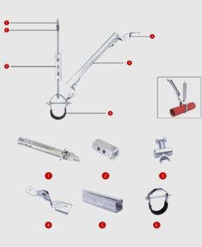 单管-侧向抗震支吊架