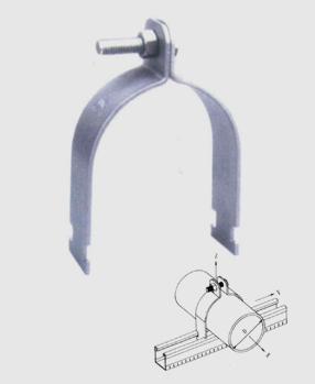 抗震P型管夹